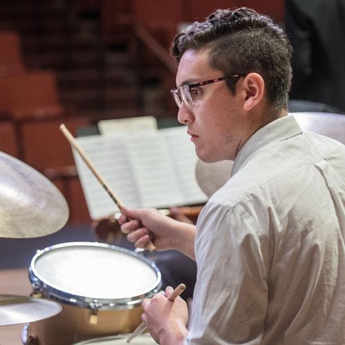 UT Jazz Orchestra drummer