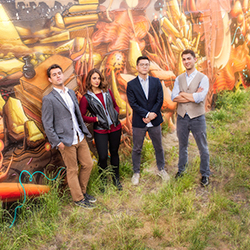 Dover Quartet in Front of a Graffiti Wall