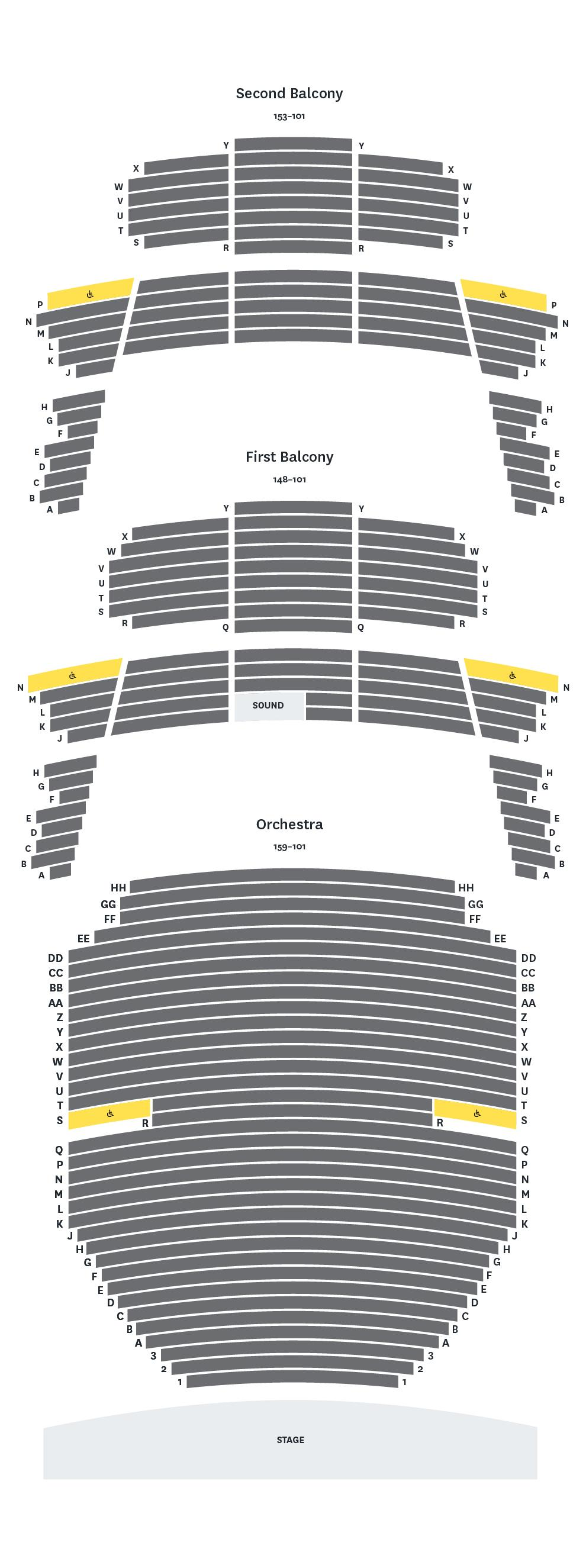 Bass Concert Hall Seat Map