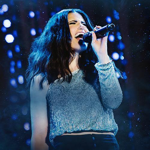 Idina Menzel performing
