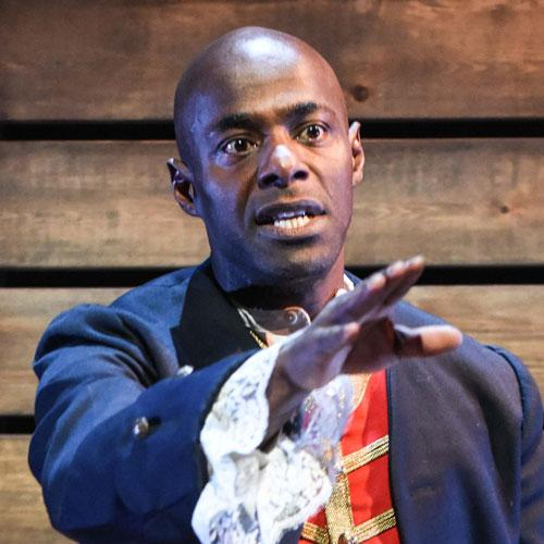 Paterson Joseph performing