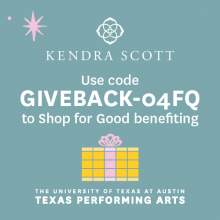Shop for good benefiting TPA at KendraScott.com on December 1 & 2